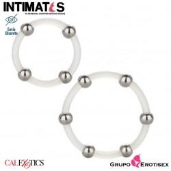 Steel Beaded Set · Juego de anillos de silicona con cuentas de acero · CalExotics