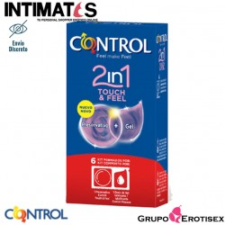 2in1 Touch Feel 6 Preservativos + Gel · Control
