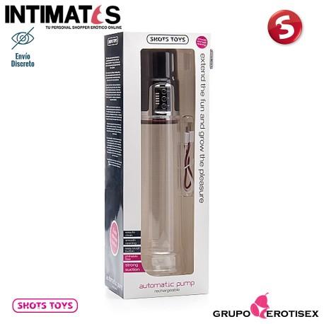 """Rechargeable Automatic Pump · Bomba de erección · Shots, que puedes adquirir en intimates.es """"Tu Personal Shopper Erótico Online"""""""