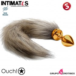 Fox Tail Buttplug - Gold · Plug cola de zorro · Ouch