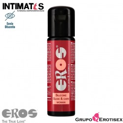 Glide & Care Woman 100 ml · Lubricante silicona · Eros
