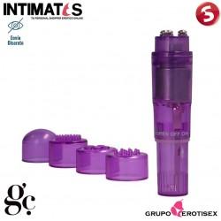 Pocket Vibe · Estimulador con cabezales - Lila · GC