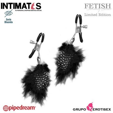 Feather Nipple Clamps · Pinzas para los pezones · Fetish Fantasy Series