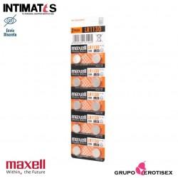 Pilas alcalinas tipo botón LR1130 10u. · Maxell