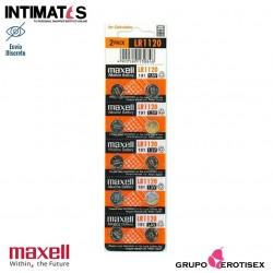 Pilas alcalinas tipo botón LR1120 10u. · Maxell