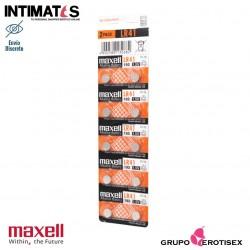 Pilas alcalinas tipo botón LR41 10u. · Maxell