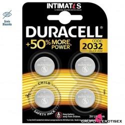 Pilas de litio tipo botón CR2032 4 u. · Duracell