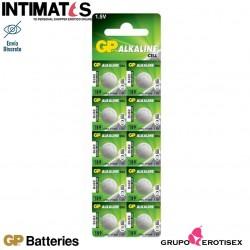 Pilas alcalinas tipo botón LR54 10u. · GP Batteries