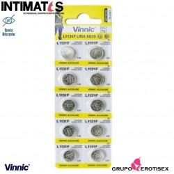 Pilas alcalinas tipo botón AG13 LR54 10u. · Vinnic