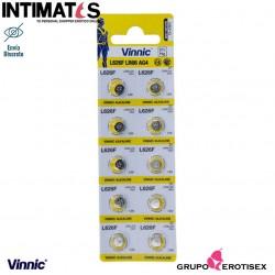 Pilas alcalinas tipo botón AG54 LR66 10u. · Vinnic