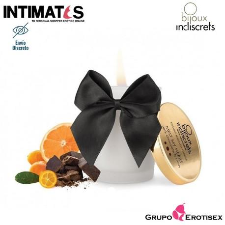"""Melt My Heart - Vela de masaje · Chocolate negro · Bijoux, que puedes adquirir en intimates.es """"Tu Personal Shopper Erótico Online"""""""