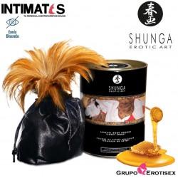 Miel de las ninfas · Polvo corporal con sabor para besar · Shunga
