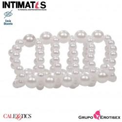 Pearl Stroker Beads™ · Funda con perlas que realzan y estimulan · Basic Essentials™