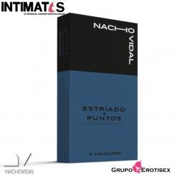 Preservativos estriados + puntos 6 unidades · Nacho Vidal
