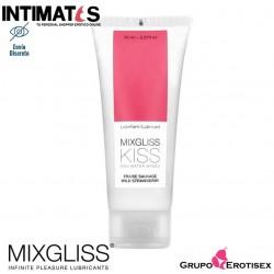 Kiss 70 ml · Lubricante aroma fresa · Mixgliss