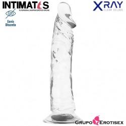 Consolador realista transparente 210mm · X Ray