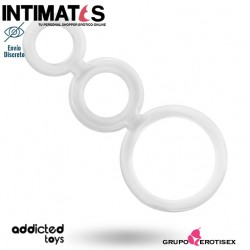 Rings set for penis - Black · Anillos de placer para el pene · Addicted toys