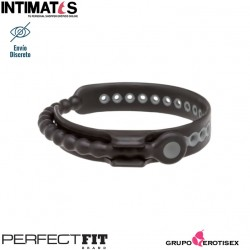 Speed ​​Shift · Anillo negro ajustable para pene · Perfect Fit