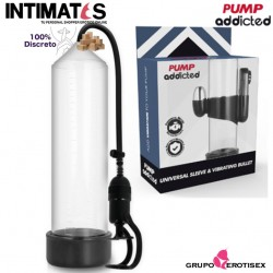 RX 5 Stimulating Pump · Bomba de succión con vibración · Pump addicted