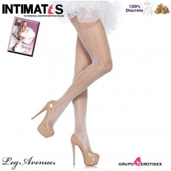 No. 9001 · Pantimedias blancas de red · Leg Avenue