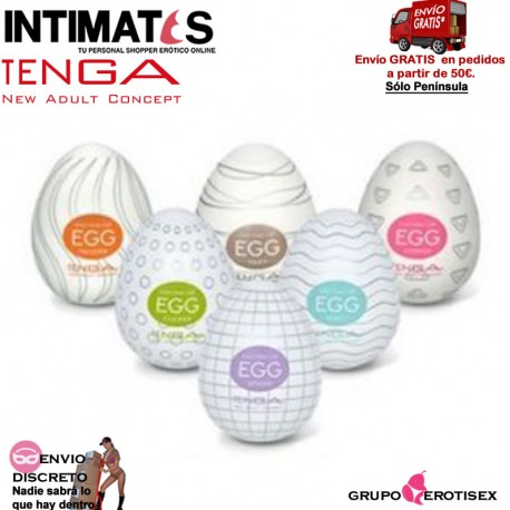"""No.1 Pack 6 modelos · Huevo Masturbador · Tenga, que puedes adquirir en intimates.es """"Tu Personal Shopper Erótico Online"""""""