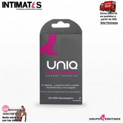 Lady Condom · Condón femenino · Uniq