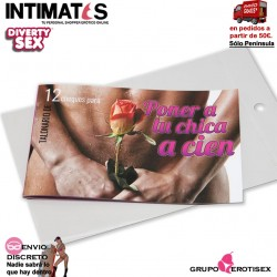Poner a tu chica a cien · Talonario 12 cheques · Diverty Sex