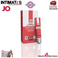 Warm & Buzzy · Estimula y aumenta el placer sensual 10 ml · Jo®