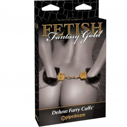 Deluxe Furry Cuffs · Fetish Fantasy Gold