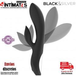 Kaultz Duo · Vibrador control touch · Black & Silver