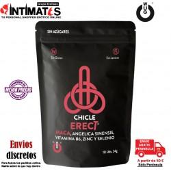 WUG Erect · Potencia la erección -10 chicles · Functional Gums