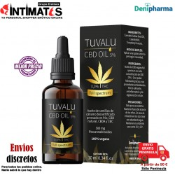 Tuvalu 5% · Aceite de cáñamo full spectrum CBD 10ml · Denipharma