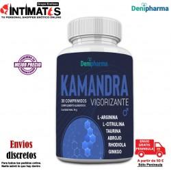 Kamandra 30 cap. · Elimina los problemas de erección · Denipharma