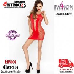 BS027 · Bodystocking rojo estilo vestido · Passion