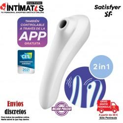 Dual Pleasure - Blanco · Estimulador de clítoris y punto G · Satisfyer