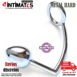 Cockring con bola anal 40mm · Metal Hard