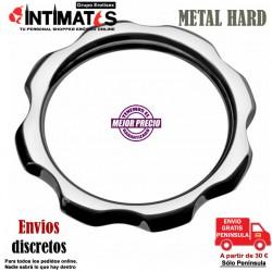 Anillo de metal para pene y testículos 45mm · Metal Hard