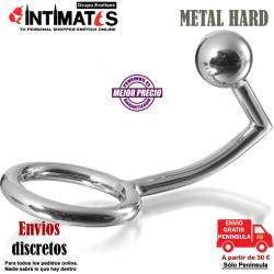Cockring con gancho anal 40mm · Metal Hard