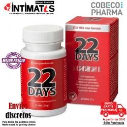 22 Days ♂ · Mejora la erección y el deseo · Cobeco
