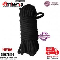 Cuerda Bondage 10M - Negra · Secret Play