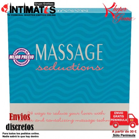 "Massage Seductions · 24 maneras de seducir a tu amante · Kheper Games, que puedes adquirir en intimates.es ""Tu Personal Shopper Erótico Online"""