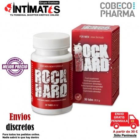 """Rock Hard 30 cap · Favorece la erección · Cobeco , que puedes adquirir en intimates.es """"Tu Sexshop Online"""""""