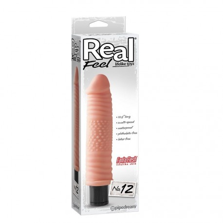 REAL FEEL LIFELIKE TOYZ VIBRADOR NUM 12 NATURAL