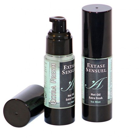 Hot Oil Extra Fresh Ice · Menta 30 ml · Extase Sensuel