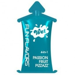 Fun Flavor Passion Fruit™ 10 g · Lubricante 4 en 1 · Wet®