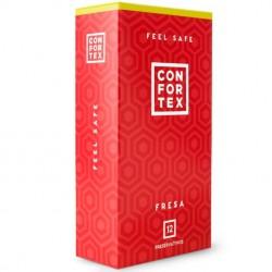 Preservativos Confortex Fresa · 12 Uds.
