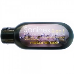 Natural Sex · Gel lubricante intimo y masaje · Saninex