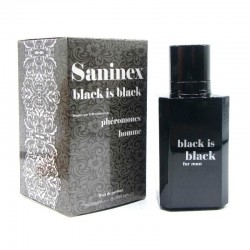 Black is Black Men · Eau de parfum phéromone · Saninex