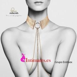 Désir Métallique · Collar metálico dorado · Bijoux