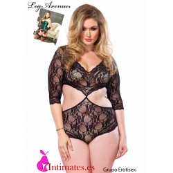No. 81427Q · Body Cut Out de encaje · Plus size · Leg Avenue